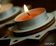 Svietidlá a sviečky - Vianočný svietnik HVIEZDA - 1981842