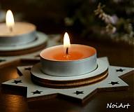 Svietidlá a sviečky - Vianočný svietnik HVIEZDA - 1981843