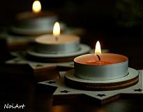 Svietidlá a sviečky - Vianočný svietnik HVIEZDA - 1981845
