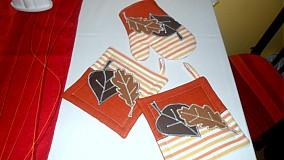 Úžitkový textil - jesenné lístie - 1992651