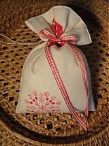 Úžitkový textil - Vianočné levanduľové vrecuško - 1994764