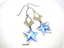 Náušnice - Swarovski vianočné hviezdičky - 2004728
