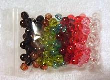 Korálky - Korálky plast 6mm-MIX-160ks - 2004787