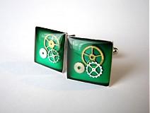 Doplnky - Zelené manžetové gombíky - 2005126