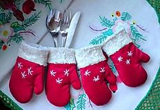 rukavičky k sviatočnému stolu...