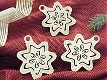 Set vianočných ozdôb - Tri hviezdy (T6)