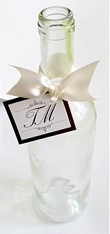 Papiernictvo - VISAČKY na svadobné fľaše - 2022264