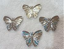 - Flitre motýlik 22x29mm-20ks (strieborná) - 2032633