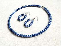 Sady šperkov - set modré perly - 2042515