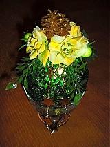 - Vianočná guľa - zeleno-žltá - AKCIA - 2044075