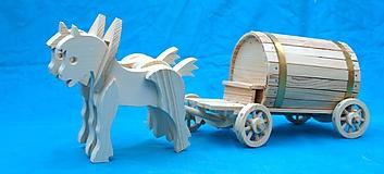 Dekorácie - Drevený koč - 2051687