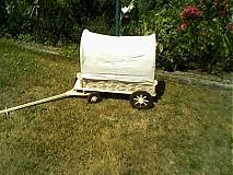 kočovný voz s plachtov- pre malých cestovateľov