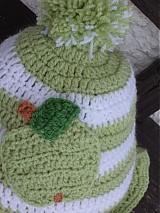 Čiapky - čiapka zelene jablko...:) hneď k odberu...:) - 2055416