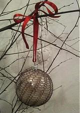 Dekorácie - vianočná guľa odrôtikovaná - 2058856