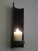"""Svietidlá a sviečky - nástenný kovový svietnik """"mních"""" - 2058868"""