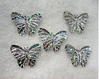 - Flitre motýlik 22x29mm-20ks (hol.strieborná) - 2058869