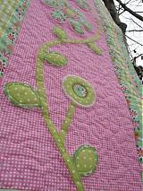 Úžitkový textil - Kvety za oknom 3-zástena :) - 2059653