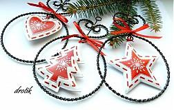 Dekorácie - Sada vianočných ozdôb - 3 kusy... - 2063972