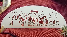 Dekorácie - Vianočná drevená ozdoba - Betlehem - 2071630