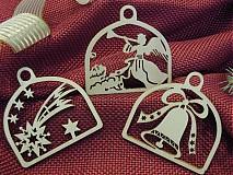 Set vianočných ozdôb - Kométa, anjel, zvonček (D1)