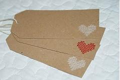 Papiernictvo -  Visačky bielo-červené - 2072924
