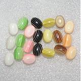 Korálky - 0201 Veselé plastové koráliky - ružové - 10x15 mm, 6 ks - 207666