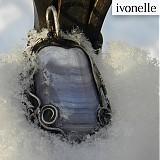 Náhrdelníky - Snehový oblak - Chalcedón, prívesok - 2078892