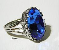 Prstene - Swarovski Sapphire - ihneď k odberu - 2079026
