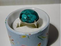 Prstene - Kabašon tyrkysu v striebre - 2079048