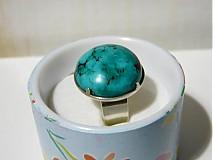 Prstene - Kabašon tyrkysu v striebre - 2079049