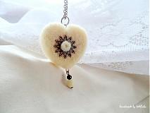 Náhrdelníky - Srdce bielej ovečky - 2083304