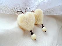Náušnice - Srdcia bielych ovečiek  - 2083328