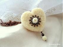 Náušnice - Srdcia bielych ovečiek - 2083343