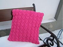 Úžitkový textil - pletené vankúše - 2084581