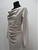 Šaty - Elegantné šaty nazbierané v páse- rôzne farby - 2092568