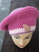Čiapky - ružová homeleska - 2098980