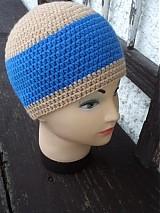 Čiapky - modro béžový set... hneď k odberu...:) - 2099411