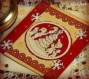 Papiernictvo - Vianočná pohľadnica - Mackova rodinka - 2104883