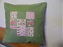 Úžitkový textil - vankúš zelený - 2105745