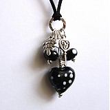 Náhrdelníky - Čiernobiely náhrdelník - 2114140