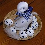 Dekorácie - Velikonoční dekorace - kachna s vajíčky - 2114888