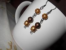 Sady šperkov - Zlatohnedá sada - caffe latte - 2115260