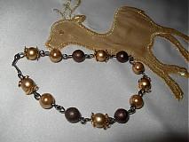 Sady šperkov - Zlatohnedá sada - caffe latte - 2115261