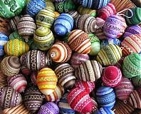 Dekorácie - Pestrobarevná vajíčka - 2116961