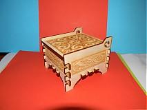 Polotovary - Darčekova krabička z preglejky s gravirovanim - 2117145