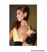 set na večer - elegantné náušnice a náhrdelník