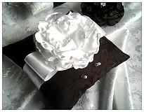 Prstene - Svadobný vankúšik-čoko pokušenie - 2118604