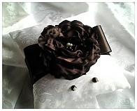 Prstene - Svadobný vankúšik- sneh v čokoláde - 2118646