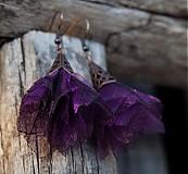 Náušnice - Tanečnice fialové - 2123931
