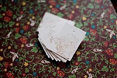 Papiernictvo - Visačky s ornamentom - 2128706